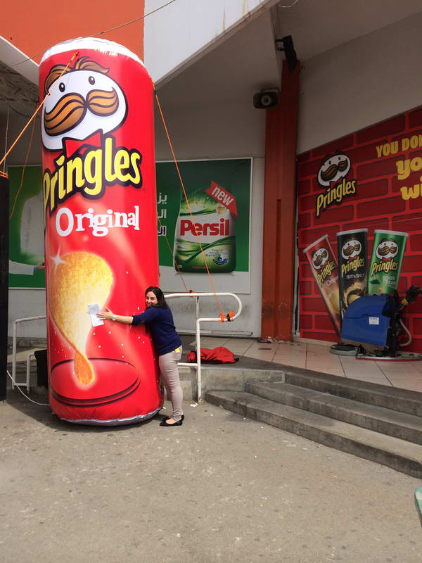 Pringles Can Clients Fly Away S A R L Inflatable